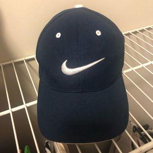 Navy Velcro Nike Hat
